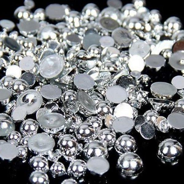 silver half pearls