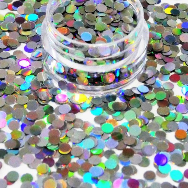 Silver Holographic Dots 3mm Size