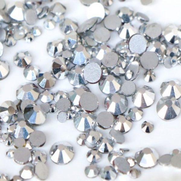 silver labrador rhinestone crystals