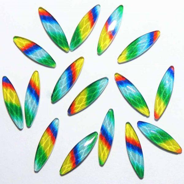 Rainbow Horse eye crystals