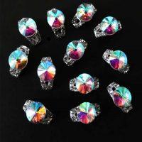 AB crystal half ring decoration