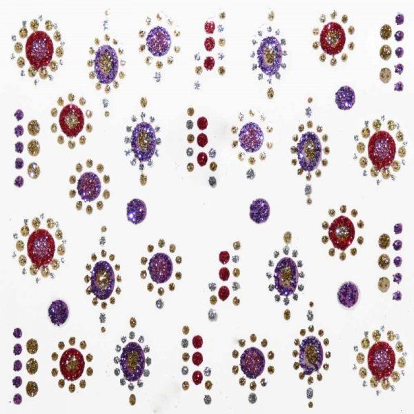 Design 11 Glitter Sticker Pattern