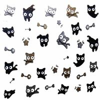 Design 4 Glitter Sticker Cat