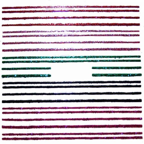 Glitter Stripe Pattern Sticker