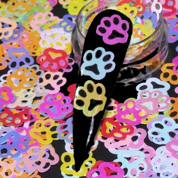 Paw prints pastel multicoloured