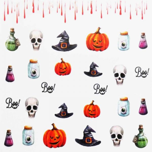 Halloween Water Decal A1106