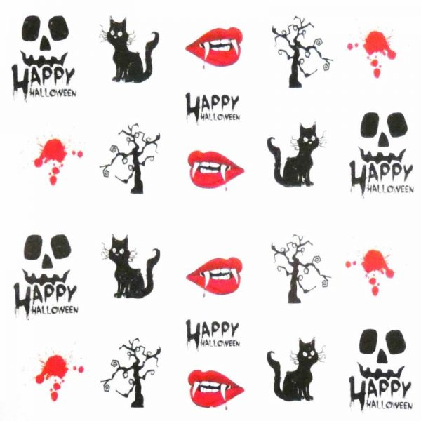 Halloween water decal A1107