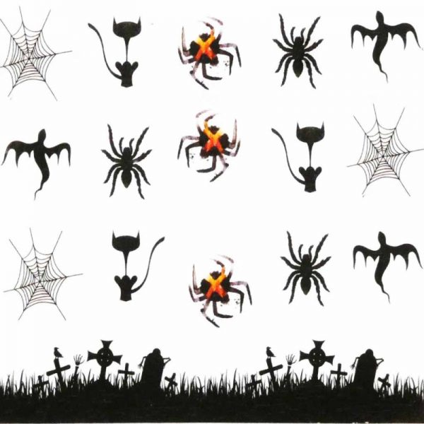 Halloween Water Decal A1124