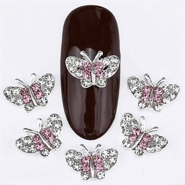 Butterfly Alloy Crystal Decoration