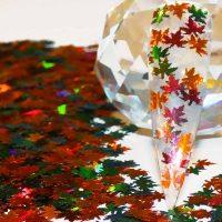 Maple Leaf Chameleon & Burnt Orange Holographic