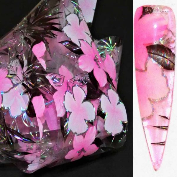 Pink Flower Transfer Foil