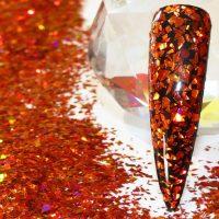 Burnt Orange Holographic Tiny Mylar Shards