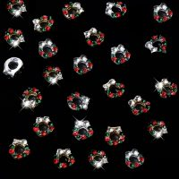 Christmas Crystal Wreath Alloy 7 x 7mm