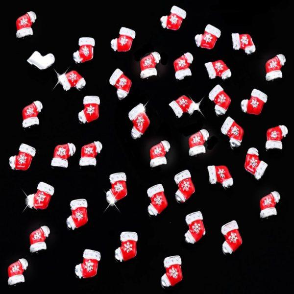 Christmas Stocking Alloy 7 x 7mm