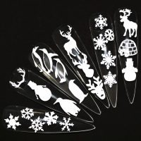 Christmas White Vinyl Stickers