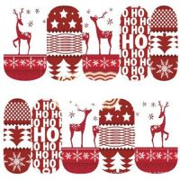 Christmas Reindeer Water Decal 1129