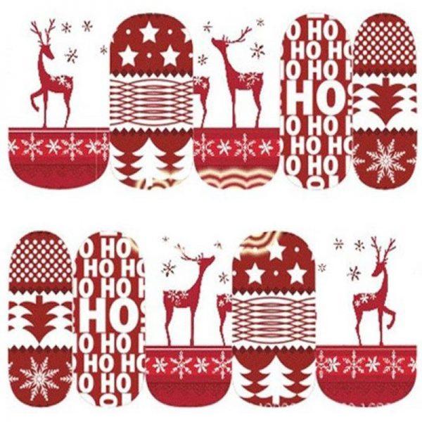 Christmas Reindeer Water Decal 1129
