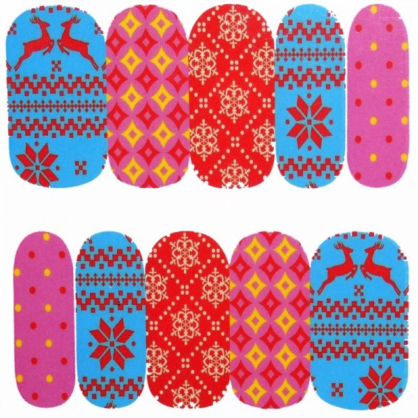 Christmas Pattern Water Decal 1131