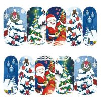 Christmas Santa water decal 1132