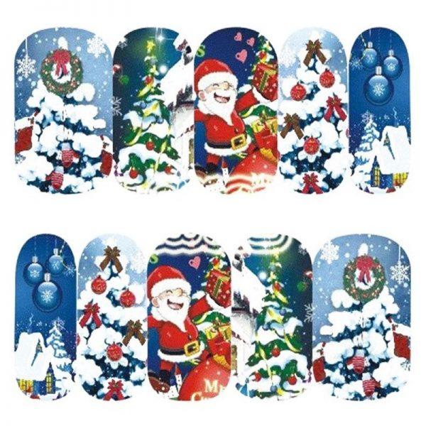 Christmas Santa water decal 1132