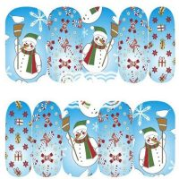 Christmas Snowman Water Decal 1133