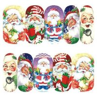 Father Christmas water decal 1134