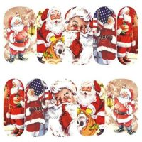 Santa Claus water decal 1135
