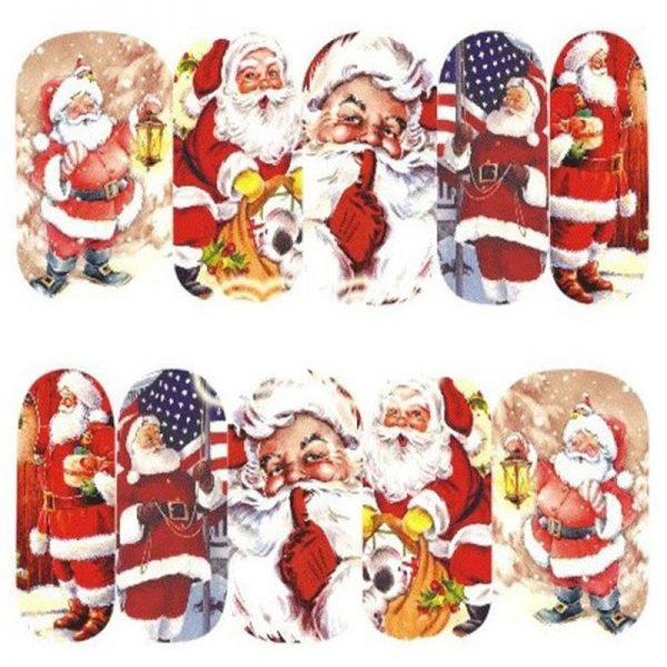 Santa Claus water decal 1135