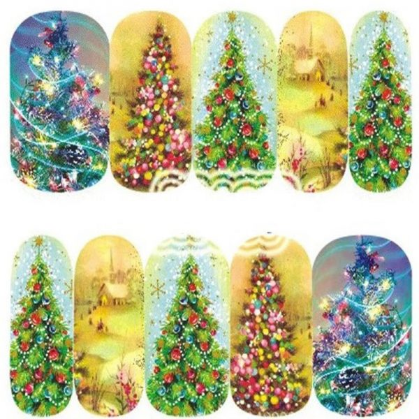 Christmas Tree water decal 1137