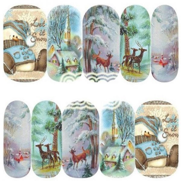 Christmas Let It Snow water decals 1139