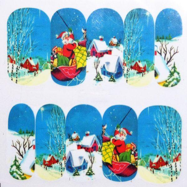 Christmas Snow Scene water decals 1140