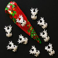 Christmas Reindeer Crystal Alloy