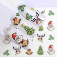 Christmas Santa Bells Water Decal 170
