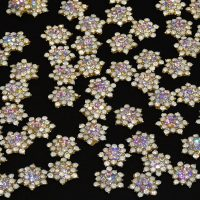 Crystal Alloy Snowflakes Design 2