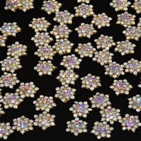 Crystal Alloy Snowflakes Design 2