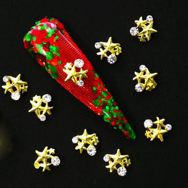 Gold Star Cluster Crystal Alloy Design 1