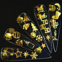 Gold Holographic Xmas Vinyl Stickers