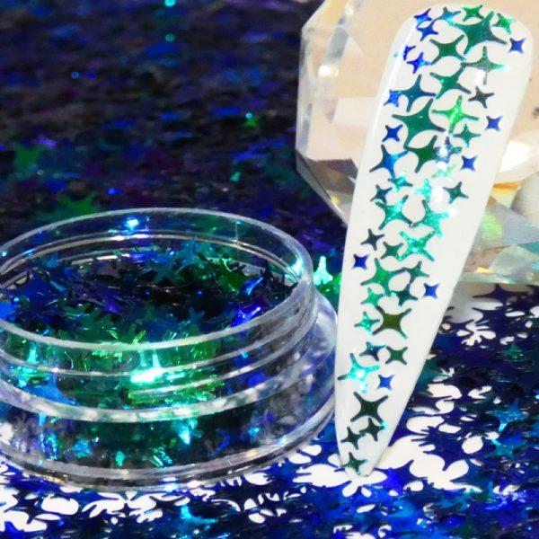Peacock Chameleon Christmas Star 4 Angle