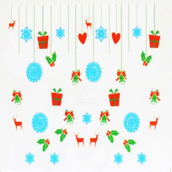 Christmas Present Bell And Holly Water Decal