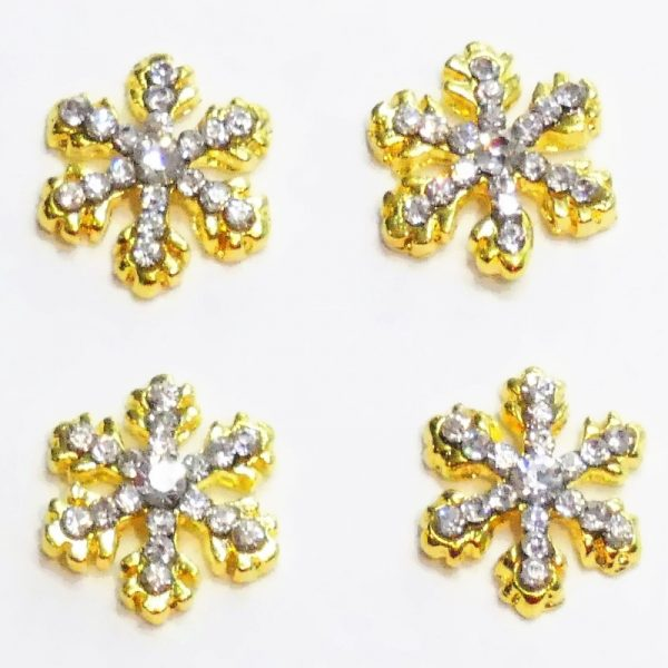 Gold Crystal Alloy Snowflake