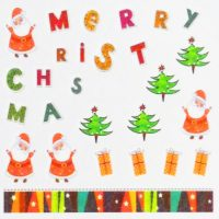 Santa and present water decal 161