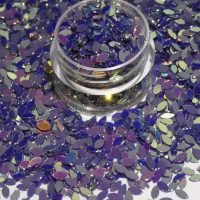 Petal Shape Deep Purple Gold Effect Colour Shifting