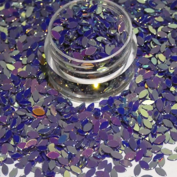 Petal Shape Deep Purple Gold Effect Colour Shifting