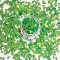 Petal Shape Green Gold Effect Colour Shifting