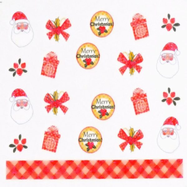 Father Christmas And Present Water Decal 163