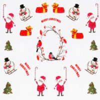 Santa And Snowman Water Decal 156