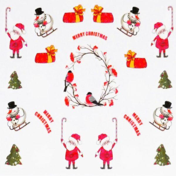 Santa And Snowman Water Decal 156
