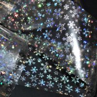 Silver Holographic Snowflake Transfer Foil