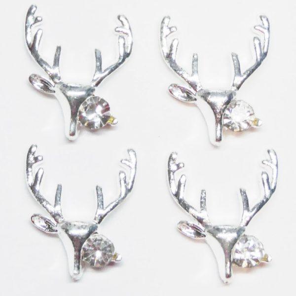 Silver Reindeer Crystal Head