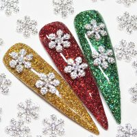 Snowflakes Clear Crystal Alloy x 1 Piece